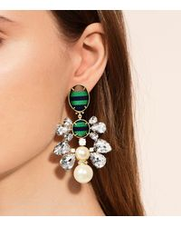 Tory Burch - Multicolor Ribbon Pearl Statement Earring - Lyst