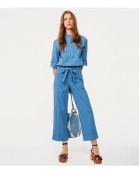 Tory Burch - Blue Robin Cropped Pants - Lyst