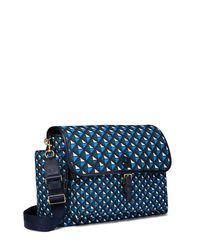 Tory Burch - Blue Scout Nylon Printed Messenger Baby Bag - Lyst