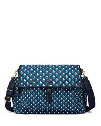 Tory Burch | Blue Scout Nylon Printed Messenger Baby Bag | Lyst