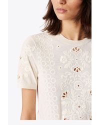 Tory Burch - White Channing Sweater - Lyst