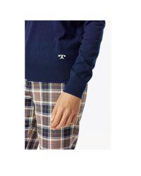 Tory Burch Blue Marilyn Sweater