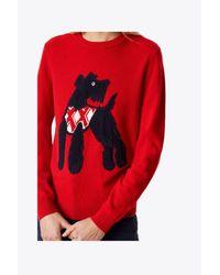 Tory Burch - Red Barkley Sweater - Lyst