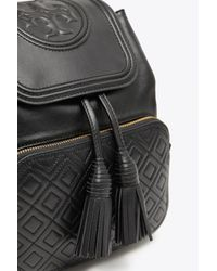 Tory Burch Black Fleming Backpack