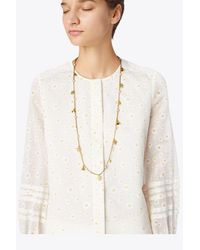 Tory Burch - Metallic Bellflower Rosary - Lyst