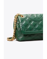 Tory Burch Green Fleming Soft Convertible Shoulder Bag