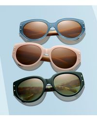 Tory Burch - Green Toggle-hinge Cat-eye Sunglasses - Lyst