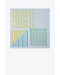 Tory Burch - Blue Collage Neckerchief - Lyst