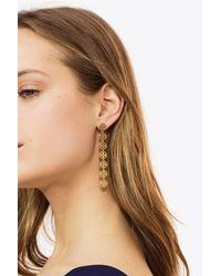 Tory Burch - Metallic Linear Logo Earring - Lyst