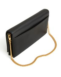 Tory Burch Black Carmen Leather Chain Wallet