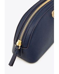 Tory Burch - Blue Robinson Small Makeup Bag - Lyst