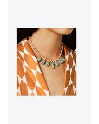 Tory Burch | Metallic Scarab Charm Necklace | Lyst