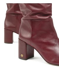 Tory Burch Red Brooke Slouchy Boots