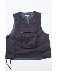 Engineered Garments Blue Cover Vest Dark Navy Highcount Twill for men