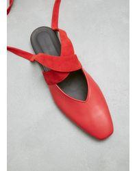 J.W. Anderson - Red Open Flat Ballerina - Lyst