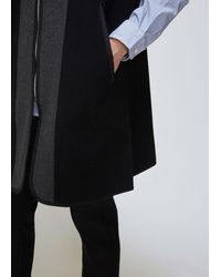 Comme des Garçons - Black Melton Wool Vest for Men - Lyst