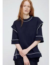 Marni - Blue Blublack Deconstructed Ss Sweatshirt - Lyst