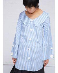 Xiao Li Blue Long Sleeves Shirt