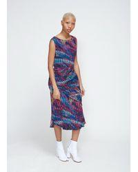 Issey Miyake - Blue Stream Print Dress - Lyst