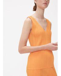 Pleats Please Issey Miyake Orange Glass Colors Sleeveless Top