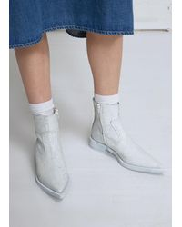 MM6 by Maison Martin Margiela - White Pointed Toe Bootie - Lyst