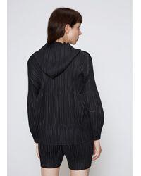 Pleats Please Issey Miyake - Black Fluffy Pleat Hooded Jacket - Lyst