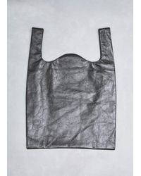 MM6 by Maison Martin Margiela Black Mirror Synthetic Leather Shopper Bag