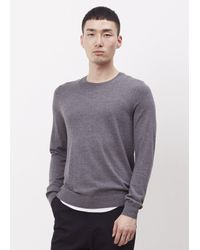 Acne Studios | Gray Grey Melange Clissold O Crewneck Sweater for Men | Lyst