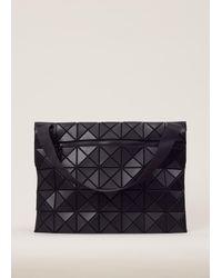 Bao Bao Issey Miyake - Matte Black Rock Matte Messenger Bag - Lyst
