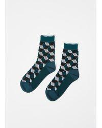 Issey Miyake - Green Hued Facet Socks - Lyst