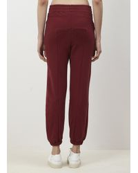 Vetements Red Burgandy Biker Sweatpants Embroidery