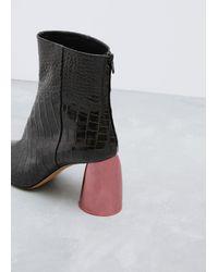 Ellery - Black / Pink Jezebels Croc Bootie - Lyst