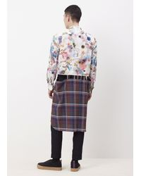 Comme des Garçons - Multicolor Check Broken Tartan Long Shirt for Men - Lyst