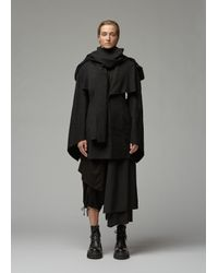 Yohji Yamamoto Black Cape Sleeve Slim Jacket