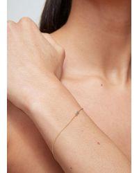 Ileana Makri Metallic Single Baguette Chain Bracelet