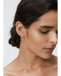 Wwake - Metallic Classic Opal And Diamond Earrings - Lyst