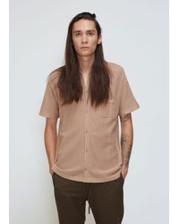 7b5fd22a57 Cmmn Swdn Wes Knitted Shirt in Natural for Men - Lyst