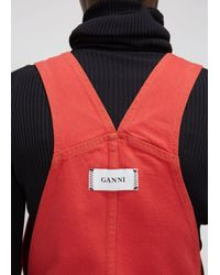 Ganni - Red Utility Overall - Lyst