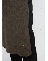 Maison Margiela - Olive Green Long Wrap Knit - Lyst
