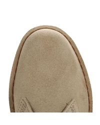 Clarks - Natural Womens Sand Desert Suede Boots - Lyst