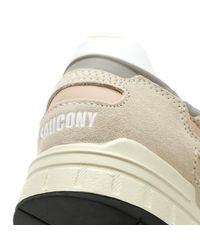 Saucony Multicolor Shadow 5000 Mens Off White / Grey / Pink Trainers for men
