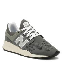 New Balance Gray Mens 247 Grey / White Trainers for men