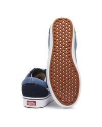 Vans Blue Old Skool Low Top Sneakers for men