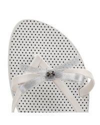 Zaxy - Womens White Glitter Fresh Bow Flip Flops Women's Flip Flops / Sandals (shoes) In White - Lyst