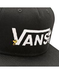 Vans - Black X Peanuts Snapback Cap for Men - Lyst