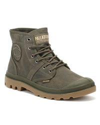 Palladium Pallabrousse Wax Mens Major Brown Boots for men