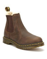 Dr. Martens - Dr. Martens Womens Dark Brown Burnished Wyoming Leonore Boots - Lyst