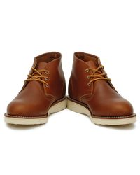 Red Wing Brown Work Chukka Boot Oro-iginal Leather for men