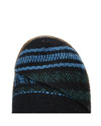TOMS - Womens Blue Green Wool Slippers - Lyst