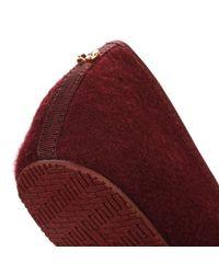 Ted Baker - Womens Burgundy Red Ayaya Wool Slippers - Lyst